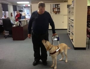 skpic Chris parchman service dog seeing eye dog nicole