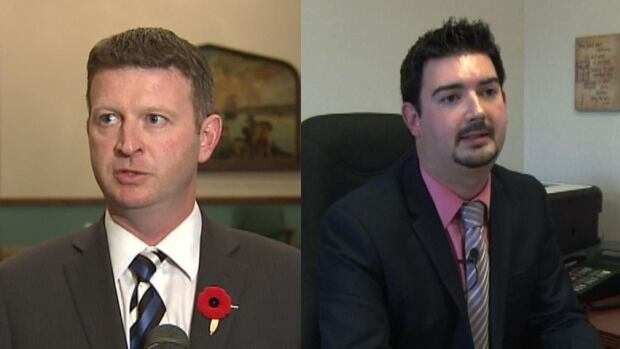 Dale Kirby, left, and Christopher Mitchelmore both quit the NDP caucus in late October.