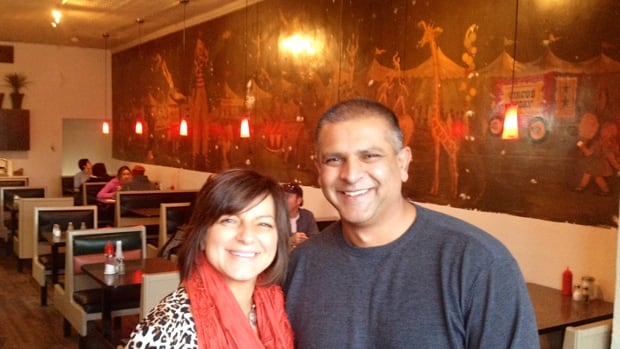 Helen and Pank Patel, owners of the Big Top at Main and Sherman, have just uncovered the restaurant's long-lost circus mural.