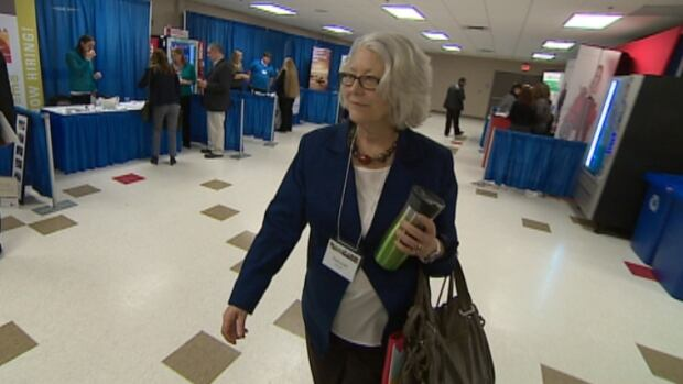 Deborah Whynot, a former Convergys employee, says the fair gave her hope that she will be able to find a new job in the city.