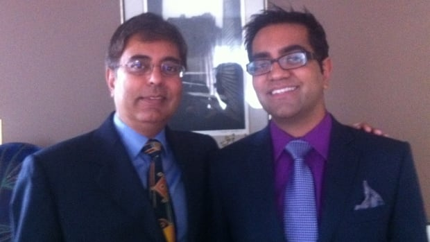 That's my dad, Dr. Pradip Joshi and me, Dr. Nikhil Joshi, heading out to a wedding just before I was diagnosed with cancer.