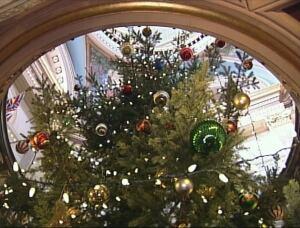 Christmas tree - B.C. legislature rotunda