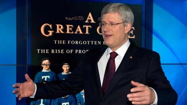 "One of the reasons Prime Minister Stephen Harper wasn't in question period on Monday was because he was promoting his new hockey book, ""A Great Game."""