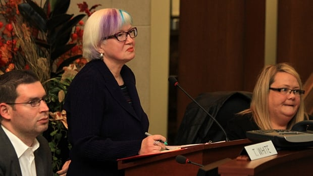 "Hamilton-Wentworth District School Board Chair Jessica Brennan, centre, said she ""want[s] to hear what people ideas are"" about a plan to close a total of 10 public elementary schools in three areas of Hamilton."