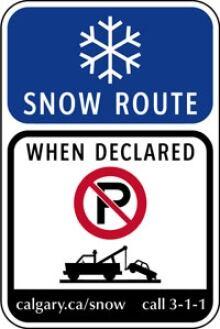Snow route ban