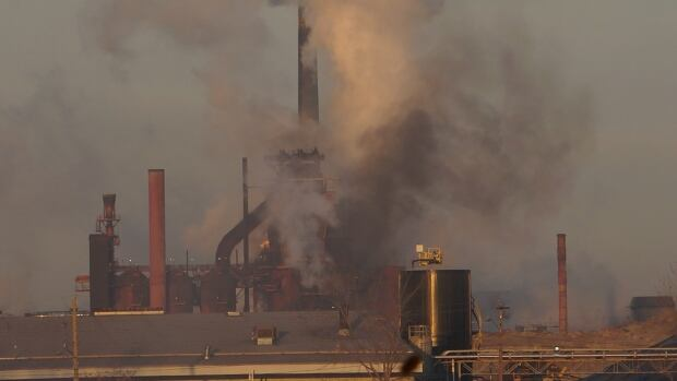 Lynda Lukasik of Environment Hamilton took this photo around 8 a.m. Dec. 3, 2013 of ArcelorMittal Dofasco's blast furnace and Number 2 Coke plant. She believes the emission opacity here violates the MOE laws.