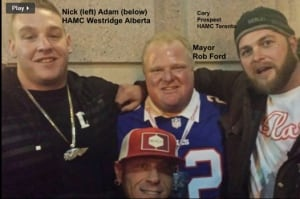 Mayor Ford appears in image on Hells Angels website
