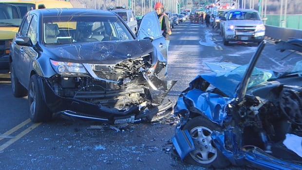 The head-on collision on the Lions Gate Bridge on Dec. 3 shut down traffic in both directions during the morning rush hour for an hour and a half.