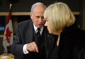 Senator Irving Gerstein and Senator Céline Hervieux-Payette