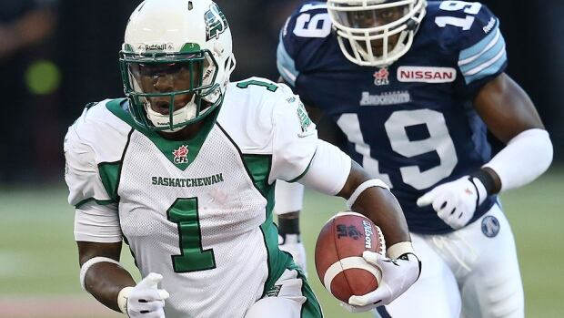 Running back Kory Sheets, one of five Roughriders named to the CFL all-star team, ran for more than 100 yards in the first six games of the season and finished tied with a franchise-best nine.