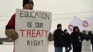 First Nation education rally Thunder Bay