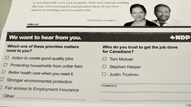 About two years before the expected federal election, the NDP has sent a questionnaire to voters in Thunder Bay-Superior North.  The current MP, Bruce Hyer, was a member of the NDP caucus, but now sits as an independent.  Political scientist Laure Paquette says it may be an effort to build a database of donors or volunteers.