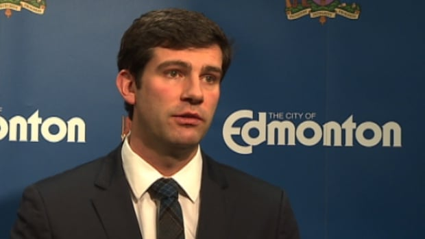 Edmonton Don Iveson discusses the 2014 city budget which was passed by council late Thursday afternoon.