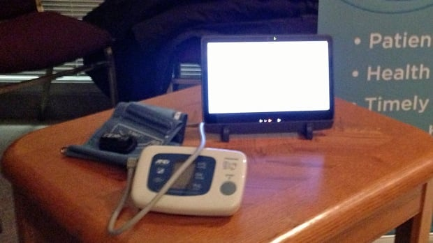 Nurses at the Northwest Community Care Access Centre are starting to monitor patients with chronic heart or lung disease in their homes and provide consultations via phone.  Patients use a computer tablet hooked up to a blood pressure monitor and a scale to give the nurses the information they need.