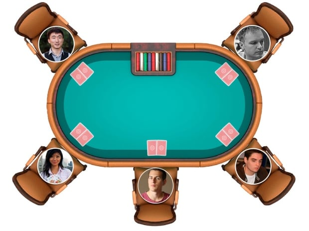 Poker interactive screen grab