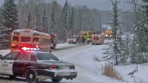 snowy highway accident in northwestern ontario