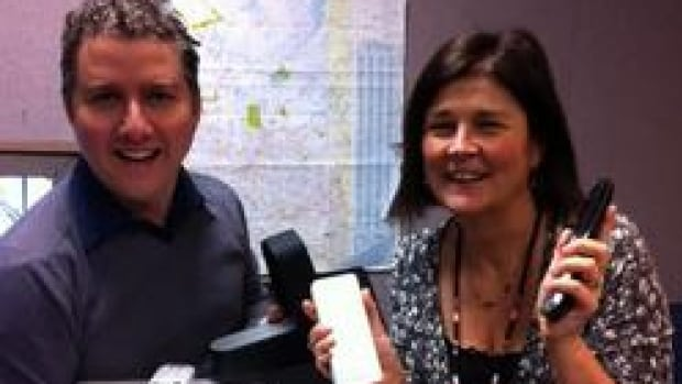 Tech expert Marc Saltzman's with CBC Morning Edition's host Sheila Coles.
