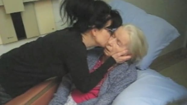 Diamond and her mother