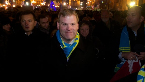 Foreign Minister John Baird visited the central Independence square in Kyiv, Ukraine, in December.