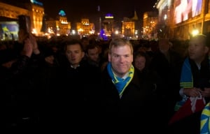 Baird attends protest in Ukraine