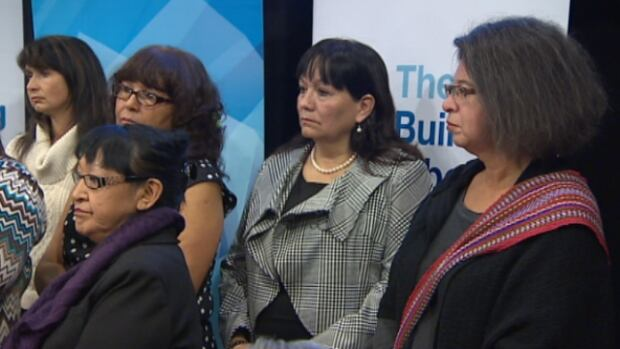 First Nations and Metis women listen as the Alberta government announces the creation of two councils, in the hope of helping aboriginal women overcome barriers.