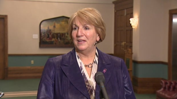 Newfoundland and Labrador premier Kathy Dunderdale, seen here on Dec. 4, has scheduled a major announcement for this evening.