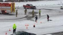 Highway 416 fatal crash West Hunt Club Road truck scene