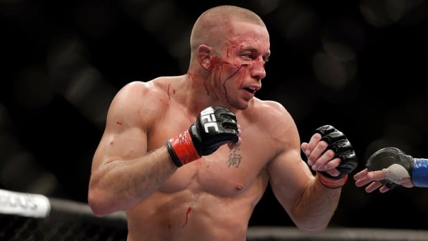 Georges St. Pierre was bloodied in his fight against Johny Hendricks at UFC 167 last month, but still came away with a controversial decision victory.