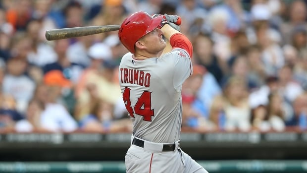 The Anaheim Angels have traded Mark Trumbo to the Arizona Diamondbacks as part of a three-team trade that sees the pitchers Tyler Skaggs and Hector Santiago heading to California.