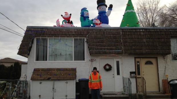 The City of Kelowna has threatened Paul Brandt with a $500 fine if he doesn't turn down the volume on Christmas music from his outdoor festive display.