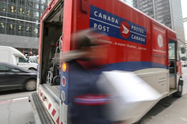 Canada Post delivery downtown