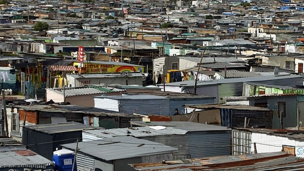 The other South Africa. The corrugated shacks in  shacks in Cape Town's crime-ridden Khayelitsha township, the scene last year of widespread vigilantism when policing broke down.
