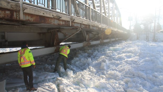 The town of Golden is concerned about an ice jam that has built up on the Kicking Horse River under the Highway 95 bridge.
