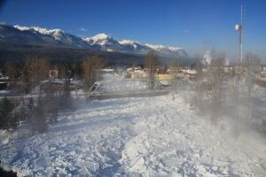 Ice jam - Kicking Horse River at Golden - 2