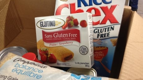 Gluten free kits are available at the foodbank