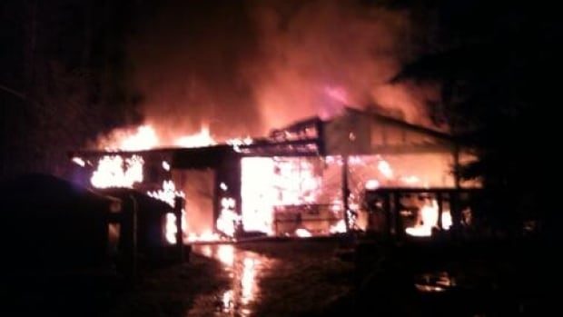 A fire burnt the Mossom Creek Hatchery to ground on Wednesday evening.