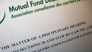Mutual fund disciplinary hearing