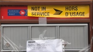 Canada Post broken into