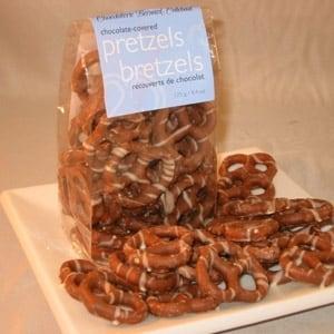 Bernard Callebaut chocolate pretzels