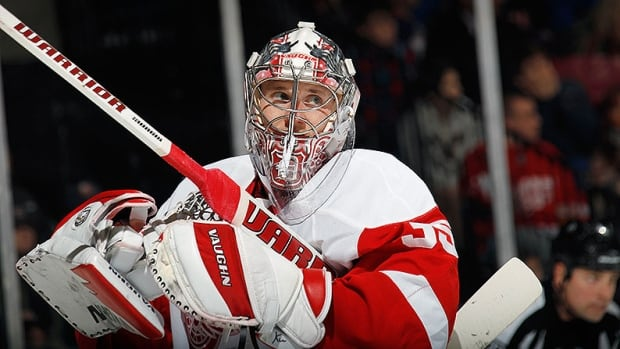 Jimmy Howard, pictured, will be replaced by backup Jonas Gustavsson, who is 8-1-2 with a 1.93 goals against average.