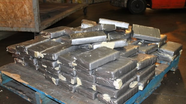 Border inspectors found 130 kilograms of cocaine hidden in a false ceiling inside a refrigerated shipping container that arrived in Vancouver's port from Russia.
