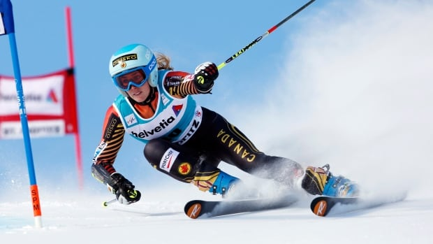Canada's Marie-Michele Gagnon was fourth after the first run Sunday at St. Moritz.
