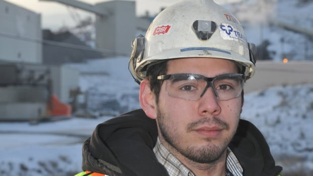 Glen Paul, 24 poses in front New Gold's New Afton Mine project, Dec. 13, 2013, just outside of Kamloops, B.C. In many ways, Paul is a rare commodity: a young worker entering an industry that observers warn is on the verge of a critical shortage of skilled labour, with some estimates predicting B.C. alone will need more than 10,000 workers during the next 10 years.