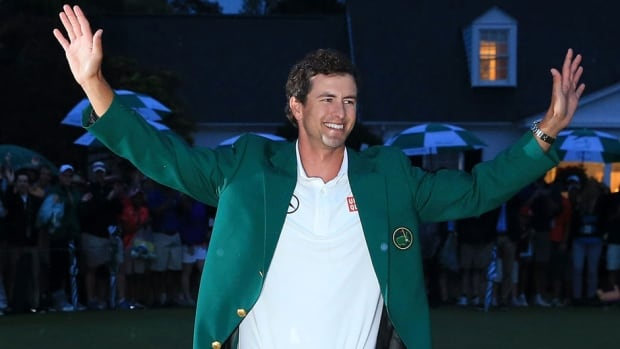 Adam Scott, seen here wearing his green jacket after winning the 2013 Masters Tournament, will have 14 golfers after his title in April after the tournament field was raised to 90.