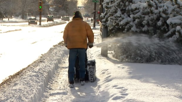 Calgary residents woke up to another 10 centimetres of snow Monday morning.