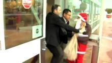 Santa scruffle at Port Metro Vancouver