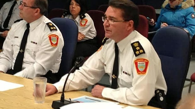 Thunder Bay Police Chief J.P. Levesque presented his proposed 2014 budget to the Police Services Board on Tuesday morning.