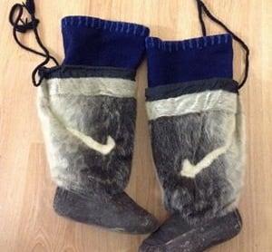 Sealskin boots, kamiks