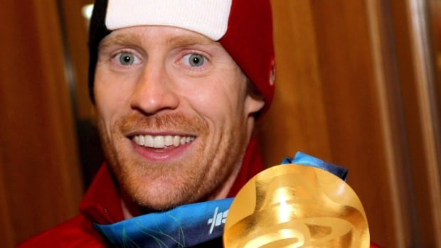 Canadian skeleton athlete Jon Montgomery celebrates his gold medal in February 2010. Montgomery said it's very unlikely he'll be competing in the 2014 Sochi Olympics.