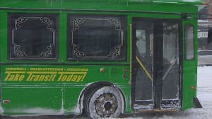 Charlottetown bus in winter